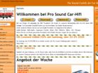 Screenshot: carhifi-shop.com - Pro sound Carhifi